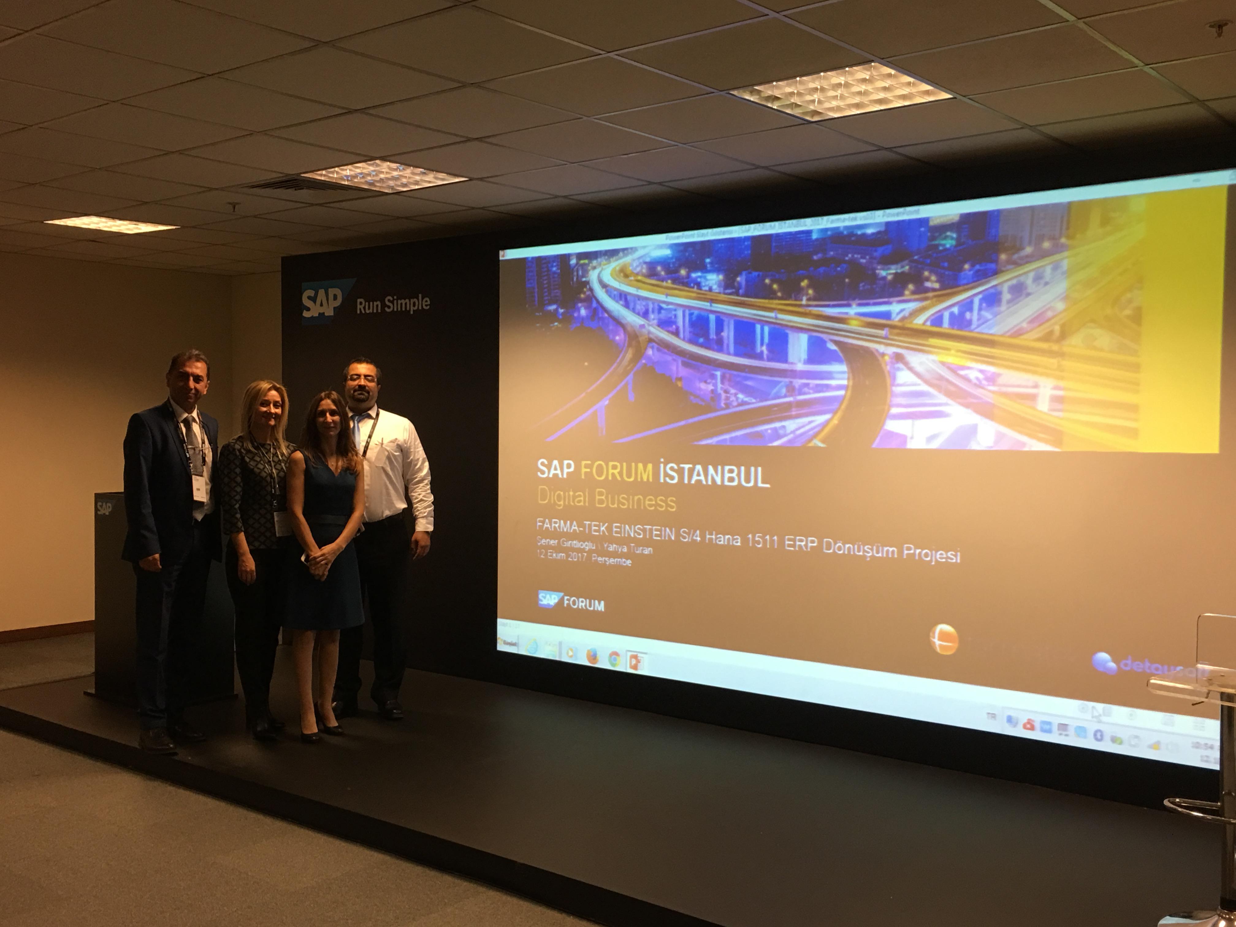 """""""S/4HANA Dönüşümü Başarı Hikayemiz""""i SAP Forum İstanbul'da anlattık"""