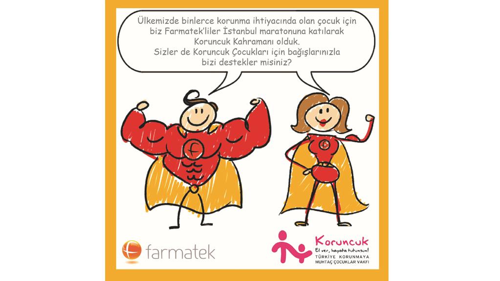 """FARMATEK Çalışanları, 39. İstanbul Maratonun'da """"Koruncuklular"""" için koştular"""
